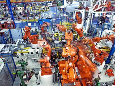 Kombi-Roboter-Montagezelle für namhaften Automobilhersteller