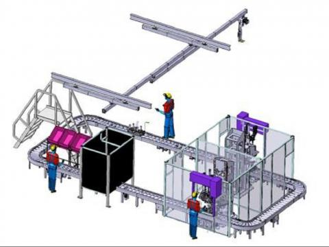 Sondermaschinenbau Fahrwerk-Vormontage
