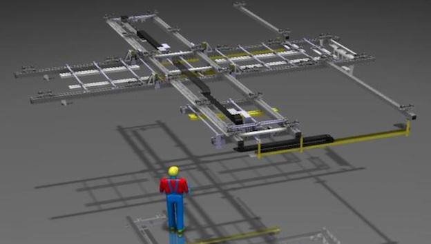 Schienensystem mit Kreuzung