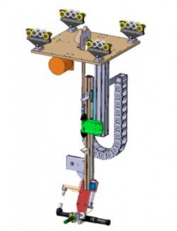 Schraubtechnik mit Gegenhalter an Teleskop